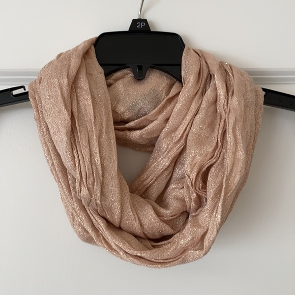 Blush and gold infinity scarf from American eagle